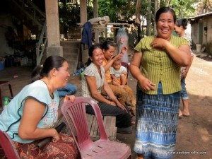 Ms Joy and her cotton weaving team