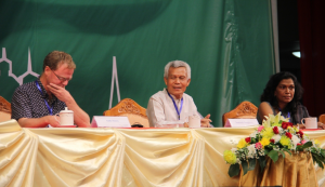 Sombath Somphone, Co-Chair of Asia-Europe People's Forum in Vientiane